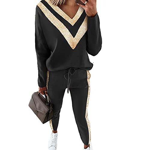 Godoboo Tuta Sportiva da Donna Tuta da Jogging Tuta da Donna Tuta da Donna in Cotone Pantaloni Manica Lunga Tuta Sciolta Donna Tuta da 2 Pezzi