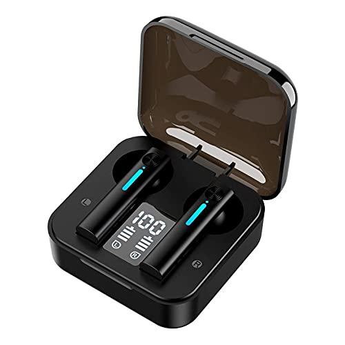 CNmuca T13 True Wireless Earbuds Fone de ouvido Binaural Noise Display digital LED para música Fone de ouvido intra-auricular para esportes trabalho preto 55 x 53 x 30mm