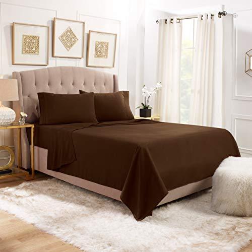 "Empyrean Bedding Queen Sheets - 4 Piece Bed Sheets Queen Set - Premium Soft Sheets for Queen Size Bed - 14-16"" Queen Size Sheets Set - Breathable Microfiber Queen Sheet Set - Chocolate Brown"