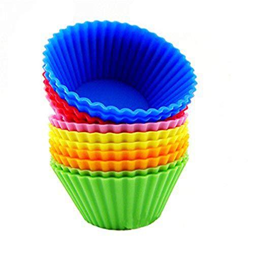 WINOMO - Moldes de silicona para magdalenas (12 unidades)