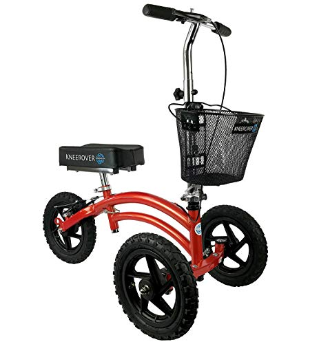 KneeRover All Terrain Steerable Knee Scooter Crutches Alternative in Canyon Orange