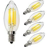 Yiun C35 E14 Candela lampadine LED 6W, 60W ad incandescenza...