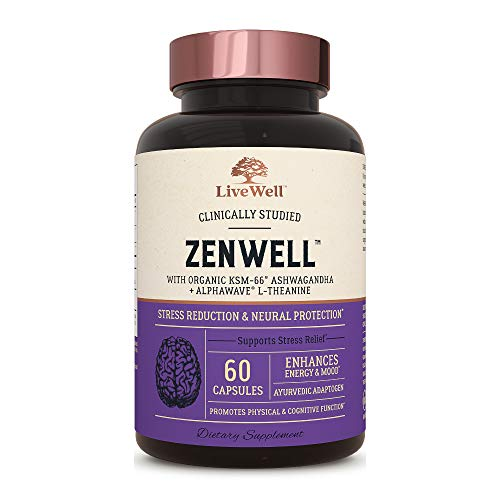 ZenWell - Organic Ashwagandha with KSM-66 | Clinically Studied Stress Reduction and Neural Protection (60 Capsules)
