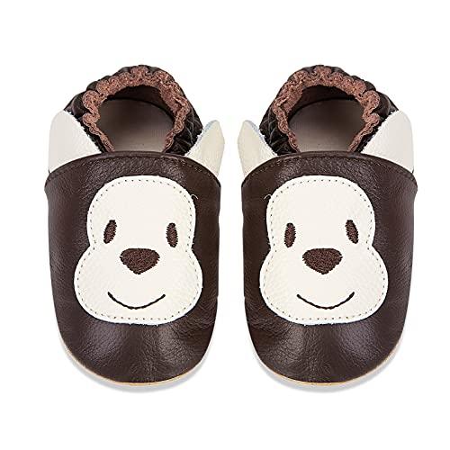IceUnicorn Zapatos de bebé de piel suave, zapatos para aprender a andar, gatear, para bebé, con suela de ante para niños, niñas y niños pequeños., color, talla 18-24 meses