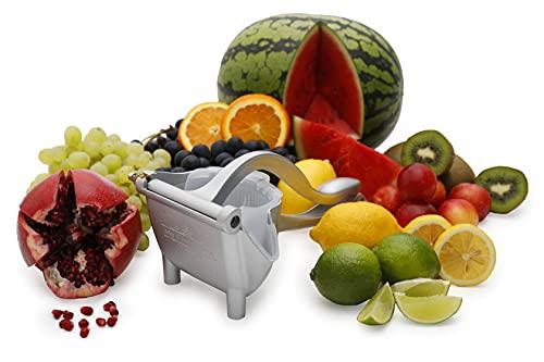 MyCosyHome Exprimidor manual de frutas y limón, aleación de aluminio, fácil de usar, herramienta extractora de cítricos, lima y naranja, zumo de cócteles, limonada, mango extraíble, limones, granadas