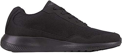Kappa FOLLOW OC XL | Freizeit-Sneakers für Frauen und Männer | super-leicht, modisch und zeitlos | angenehmes Tragegefühl | atmungsaktiv, Größe 47 - 501116 black/grey, Größe 48