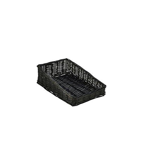 Genware nev-wdb-4025sbk Geflecht, Korb mit 6cm vor, 40cm x 25cm x 12cm, schwarz
