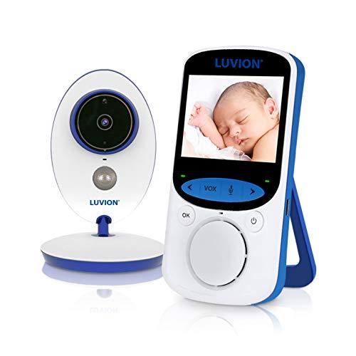 LUVION EASY PLUS - Babyphone mit Kamera, zwei Kameras möglich (1 inklusive), 2.4 Zoll Farbdisplay - Weiß-Blau