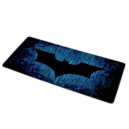 teng yun Gaming Mouse Mat, 900x400mm XL XXL Large Locking Edge Gaming Mouse Pad Keyboard Rubber Mousepad Table Computer Mat Anime Mousepad Clown (Color : for Batman logo2, Size : 800X300X3MM)