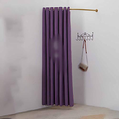 PTY Probador Cortina de la Puerta de la Sala de Montaje, Tienda de Ropa Fondo de Cortina, Vestuario Cortina de partición doméstica, Vestuario (Color : Purple, Size : 80cm x 200cm)