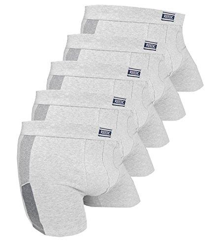 Reedic Herren Boxershorts Baumwolle 5er Pack, Größe XXX-Large (3XL), Farbe je 5X grau