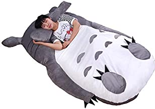 Tatami Mattress Anime Totoro Plush Bed with Padding Giant Couch Double Cartoon Tatami Mattress Creative Bedroom Children A...