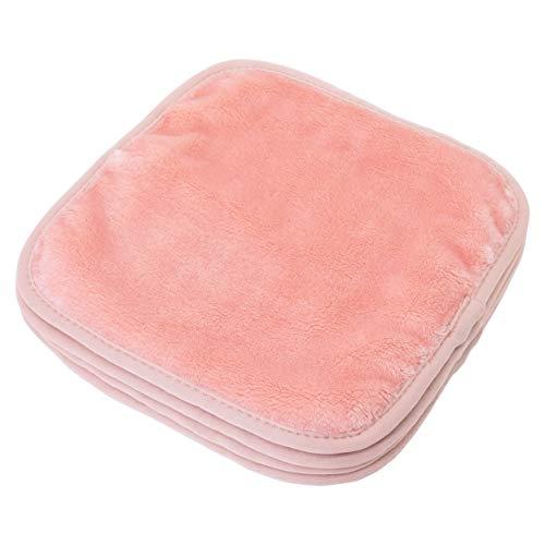 Polyte - panno premium per rimuovere il trucco pulizia viso - in microfibra di pile - privo di agenti chimici ed ipoallergenico 4 pezzi (20 x 20 cm, Rosa)