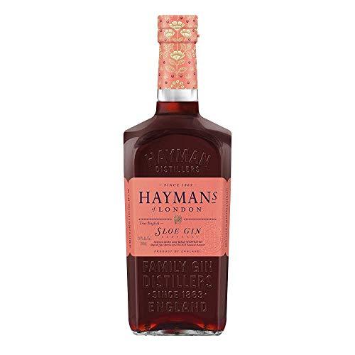 Hayman's Sloe Gin 700 ml Aroma und Farbe von Schlehen bitter- herbes Aroma weich unf gefällig im Geschmack Geruch von kräftigen Steinfrüchten milde Nussigkeit