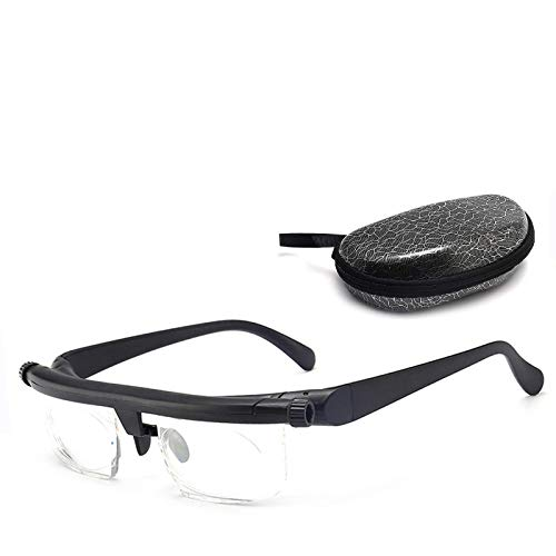 Reading Glasses Dial Adjustable Glasses Variable Focus For Reading Distance Vision Eyeglasses