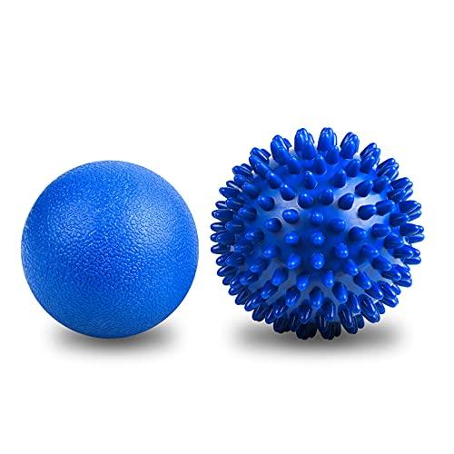 URAQT Massagebälle Faszienball, 2 Stück Faszien Kugel Fitness Massageball, Igelball mit Noppen, für Füße Hände Rücken Beine