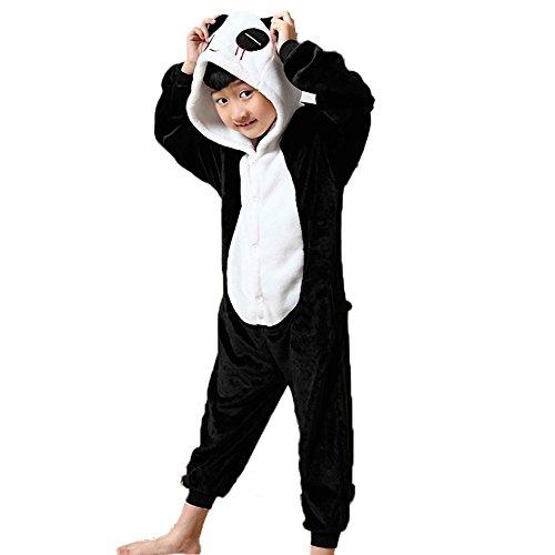 Ensemble de Pyjama Grenouillère Costume Cosplay Onesie Animaux en Flanelle Fille Garçon Cadeau Noel (Hauteur 130-140cm (Etiquette Tailleur115), Unicorn Multi-Bleu)