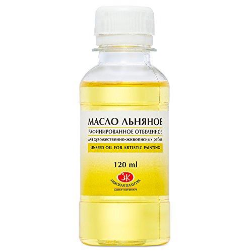 Nevskaya Palitra Leinöl für Farben zum Malen ideal für Ölfarben 120 ml gereinigt