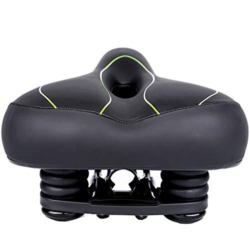 Fanuosuwr Excelente Sentimiento Equipo de cojín de Asiento de Bicicleta de Asiento de Bicicleta de Bicicleta Universal Asiento de Bicicleta Resistente al Desgaste (Color : Verde, Size : 20x26cm)