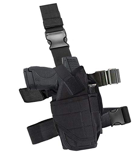 GHFY Molle Tactical Pistol Thigh Gun Holster, Drop Leg Holster, Right Hand Adjustable