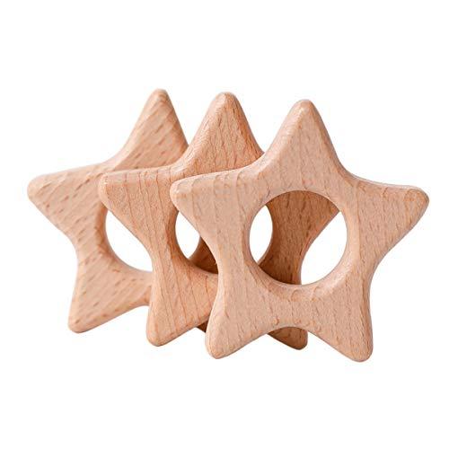 Mamimami Home 木製 ペンダント チャーム 10個 星 スター ブナ 木 天然素材 動物 無塗装 安全 DIY アクセサリー 部品 質材 素材 材料 ハンドメイド 手作り ギフト 手芸 パーツパーツ