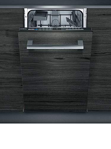 Siemens SR61IX05KE iQ100 Vollintegrierter Geschirrspüler/A+ / 222 kWh/Jahr / 2660 L/Jahr/WLAN-Fähig über Home Connect/varioSpeed/infoLight Betriebsanzeige, Schwarz
