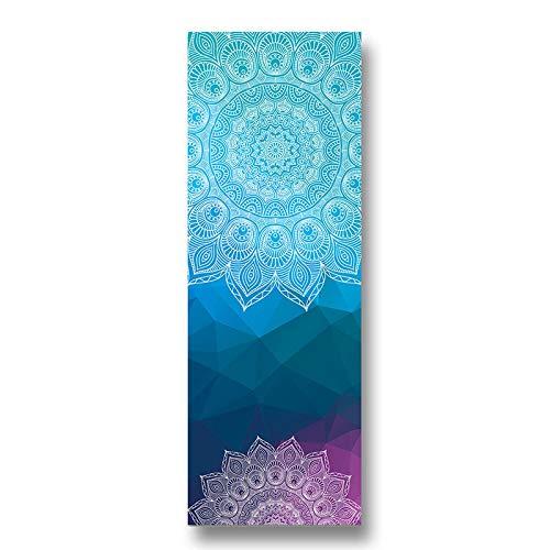 BANLV Línea de Toalla de Yoga Impresa Estera de Ejercicio Antideslizante Tablero de Equilibrio de Microfibra Ejercicio físico Estilo-2