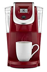 red coffee maker for nostalgic feel