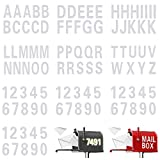 100 Pieces Reflective Capital Letters Sticker Numbers Decal Self Adhesive Vinyl Waterproof Numbers Sticker Letters Decal 0-9 and A-Z Mailbox Address Decal for Bin Window Signs Door Car (White,3 Inch)