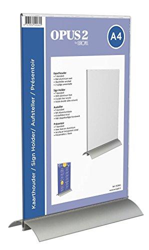 OPUS 2 350062-Tischaufsteller, Aluminium Acryl, DIN A4, Hoch