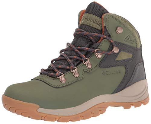 Columbia Women's Newton Ridge Plus Waterproof Hiking Boot Shoe, Hiker Green/Caramel, 9 Wide