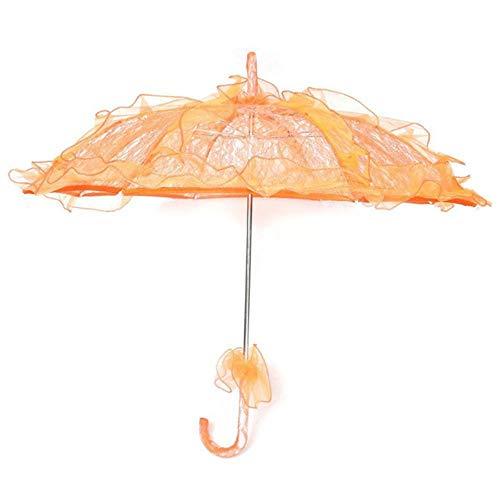 Viner Lace Parasol Bruiloft Kant Bloem Bruid Bruid Parasol Paraplu Oranje Nieuw, Oranje