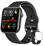 WWDOLL Smartwatch, Orologio Fitness Tracker Uomo Donna IP67 Cardiofrequnzimetro da Polso Contapassi e Calorie Activity Tracker Smart Watch Bluetooth per Android iOS (Nero)
