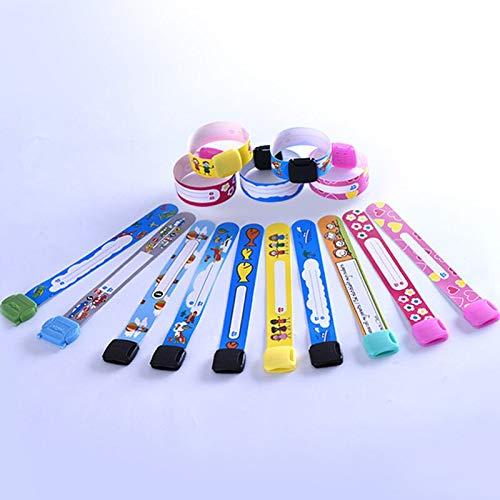 Pulsera Seguridad Niños,12PCS Pulsera Seguridad Infantil Pulsera Reutilizable de la Emergencia de SOS Safety Wrist Band Waterproof ID pulsera para niño color aleatorio