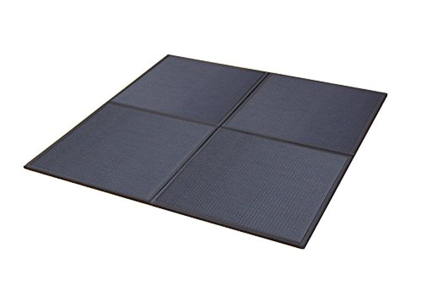 包囲めまい凝視イケヒコ 置き畳 ユニット畳 PP 軽量タイプ 『スカッシュ』 ブラック 約82×82×1.7cm (6枚1セット)