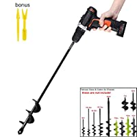 "Garden Auger Drill Bit Garden Auger Spiral Drill Bit 1.6X 16.5 inch Rapid Planter for 3/8"" Hex Drive Drill - for Tulips, Iris, Bedding Plants and Digging Weeds Roots"