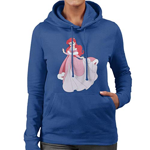 Disney Christmas Princess Ariel Holding Dress Women's Hooded Sweatshirt