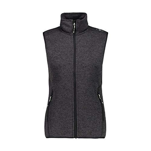 CMP Damen Weste Woman Fleece Vest 3H55766 Nero-Leaf 48