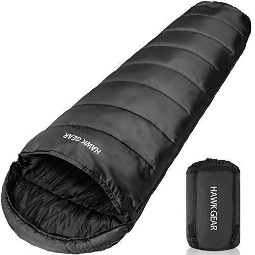 [HAWK GEAR(ホークギア)] 丸洗いできる寝袋 マミー型 シュラフ -15度耐寒 簡易防水 オールシーズン