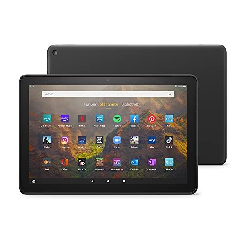 Das neue Fire HD 10-Tablet | 25,6 cm (10,1 Zoll) großes Full-HD-Bildschirm (1080p), 32 GB, schwarz – mit Werbung