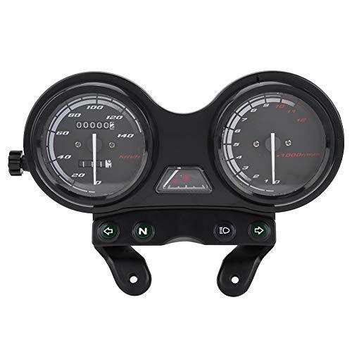 Mszhang Motorcycle Street Bike Speedometer Gauge Metro DC 12V Motorcycle Motorbike 12000RPM LCD odómetro Velocímetro/Ajuste para Yamaha YBR 125 (Color : Black)