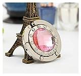Wlbhb Billetera Plegable del Bolso del Gancho de Soporte de la Bolsa Colgante Portable 1PC (Color : Pink)