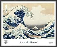 ポスター ホクサイ The Great Wave 富嶽三十六景・神奈川沖波裏 額装品 ウッドベーシックフレーム(ブラック)
