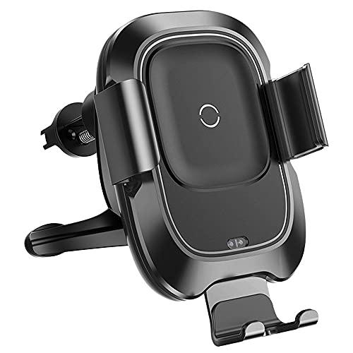 AZPINGPAN Soporte para teléfono para automóvil, soporte de navegación con sensor infrarrojo de carga inalámbrica inteligente de 10 W de 6.5 pulgadas, cámara fotosensible inteligente, clip para teléfon