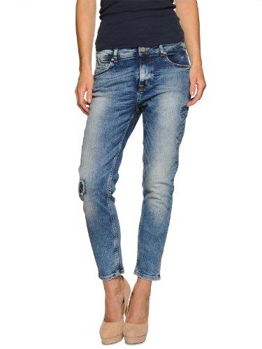 Tigerhill Damen Aimi Roll Up Jeans, Blau (Light), 38 (28/32)