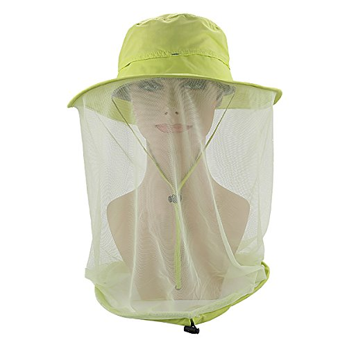 Fyore Mosquito Head Net Hat, Sun Protection Hat Safari Boonie Hat Fishing Hat for Outdoors,Hiking, Camping, Gardening