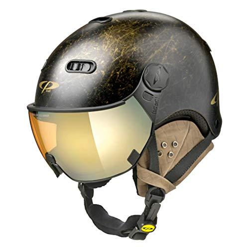 CP Carachillo Vintage Visierhelm Gold Mirror Skihelm NEU Snowboardhelm 56 cm - 58 cm