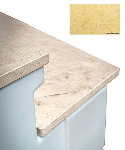 TERAPLAST Tera Comptoir Wave Short lumière et marbre Made in Italy