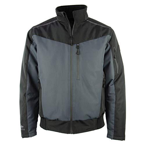 FORSBERG Molnson Pilotenjacke warmes Steppfutter wasserabweisend Winddicht atmungsaktiv schwarz dunkelgrau, Farbe:schwarz/grau, Größe:S