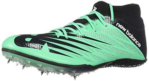 New Balance Men's Short Distance 100 V2 Spike Running Shoe, Neon Emerald/Black, 9.5